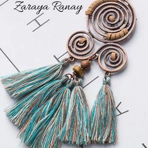 🥀Bohemian Spiral Tassel Necklace